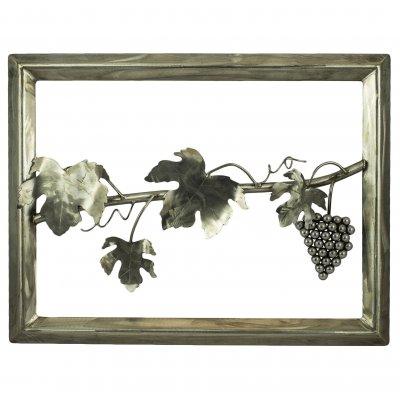 Cadre inox grappe de raisin et vigne
