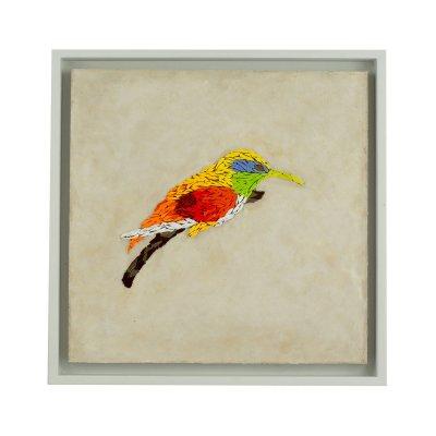 Tableau mosaïque oiseau à bec