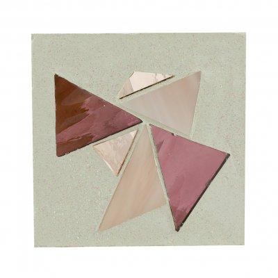 Petit tableau mosaïque rose