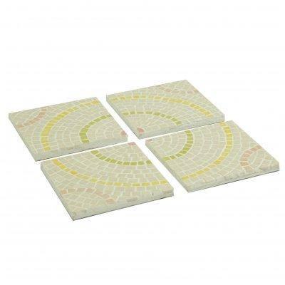 Plaques mosaïque beige