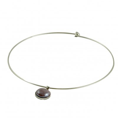 Collier rond violet