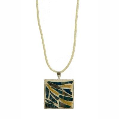 Collier pendentif mosaïque