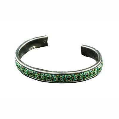 Bracelet rigide vert