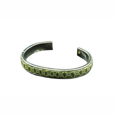 Bracelet rigide fin argent