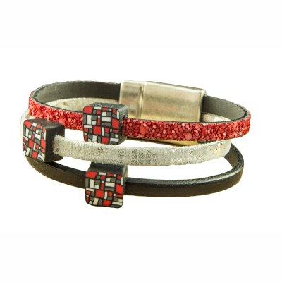 Bracelet 3 cuirs