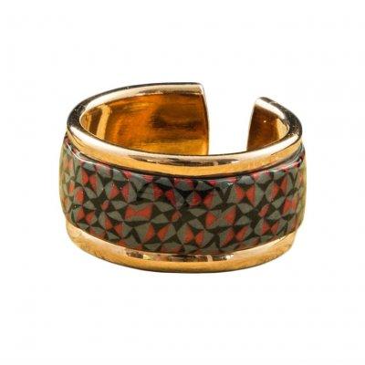 Bague anneau or rose