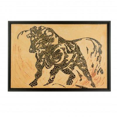 Tableau mosaïque taureau