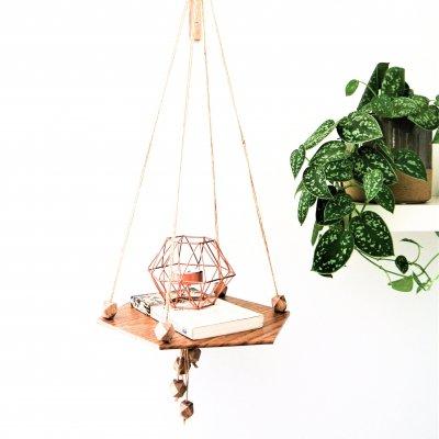 Tablette suspendue CHÊNE - étagère murale - petit mobilier - design - décoration d'intérieur